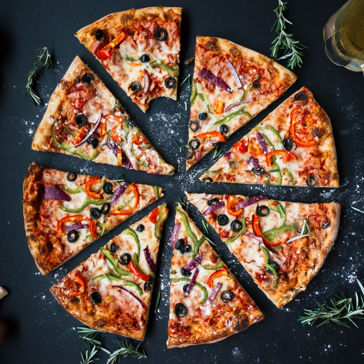 Steinofen Pizza bei Farina meets Mehl Hamburg