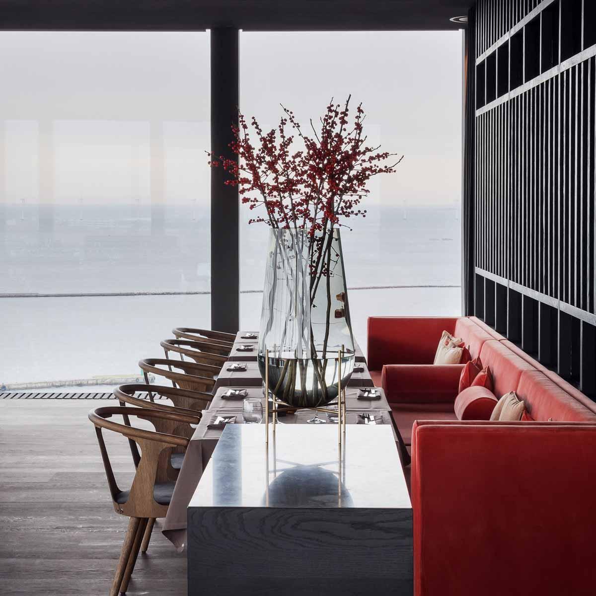 Restaurant Silo mit Aussicht auf Oeresund in Kopenhagen_