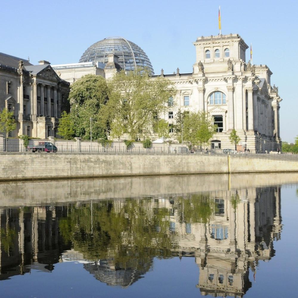 Deutscher Bundestag im Reichstagsgebäude Berlin