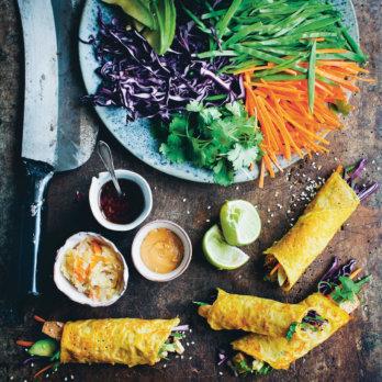 Koreanische Gemüsepfannkuchen