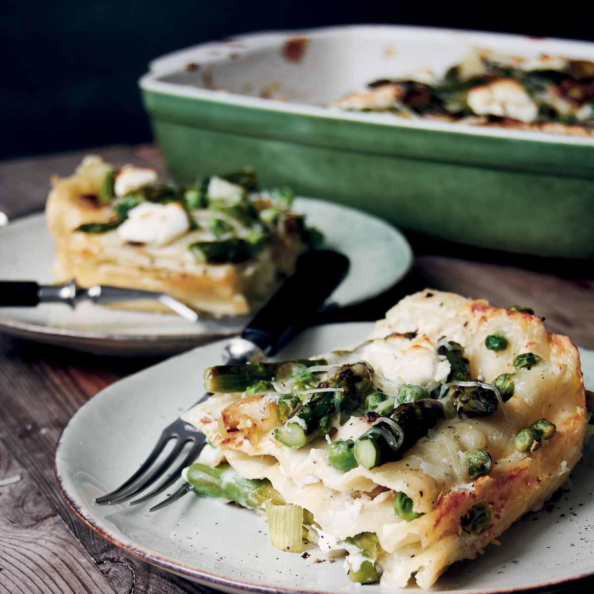 Spargel -Lauch-Lasagne Meike Peters