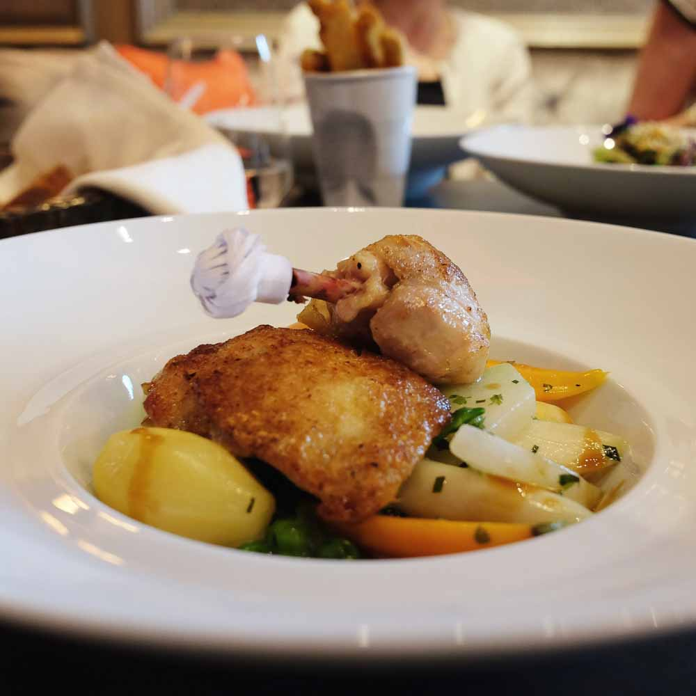 Speisen im Restaurant Charlotte & Fritz