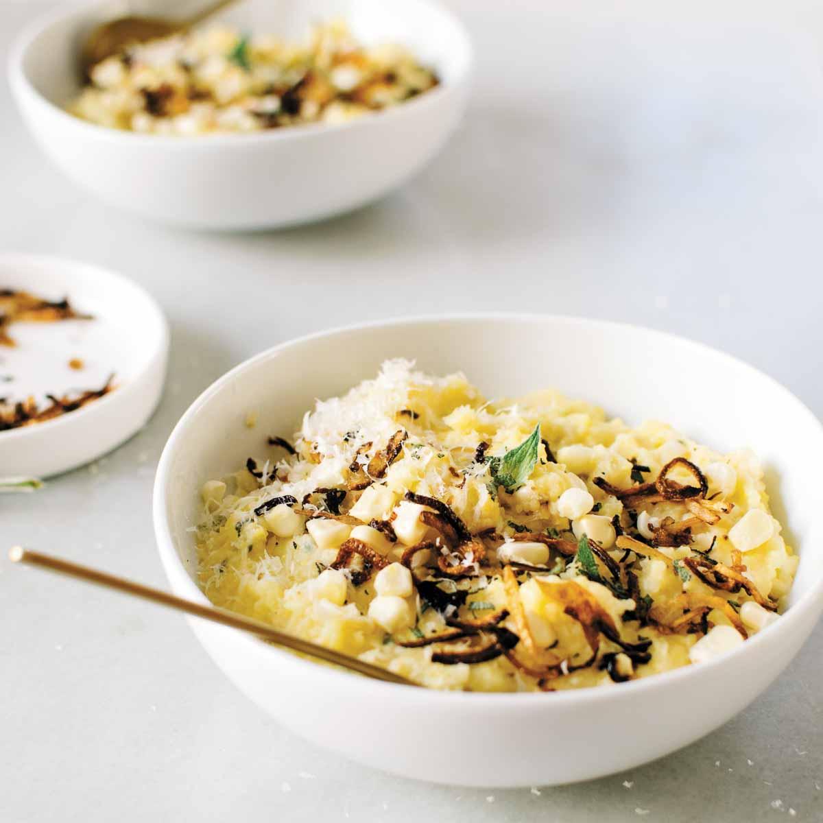 Cremige Polenta mit frischem Reis
