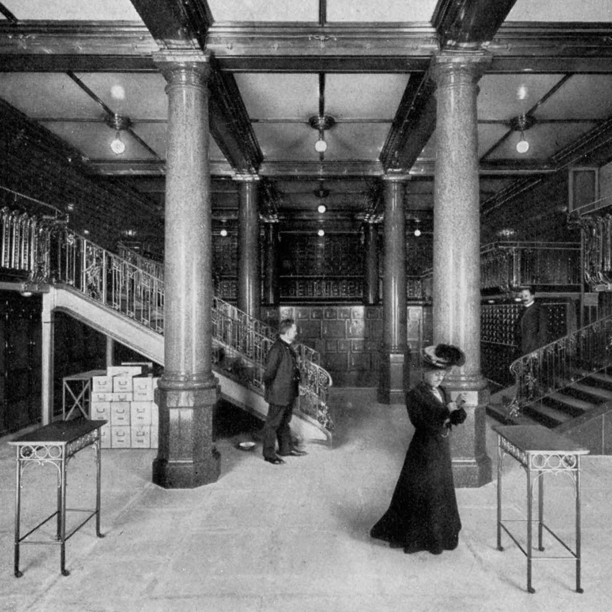 Historische Aufnahme Tresor Hotel de Rome