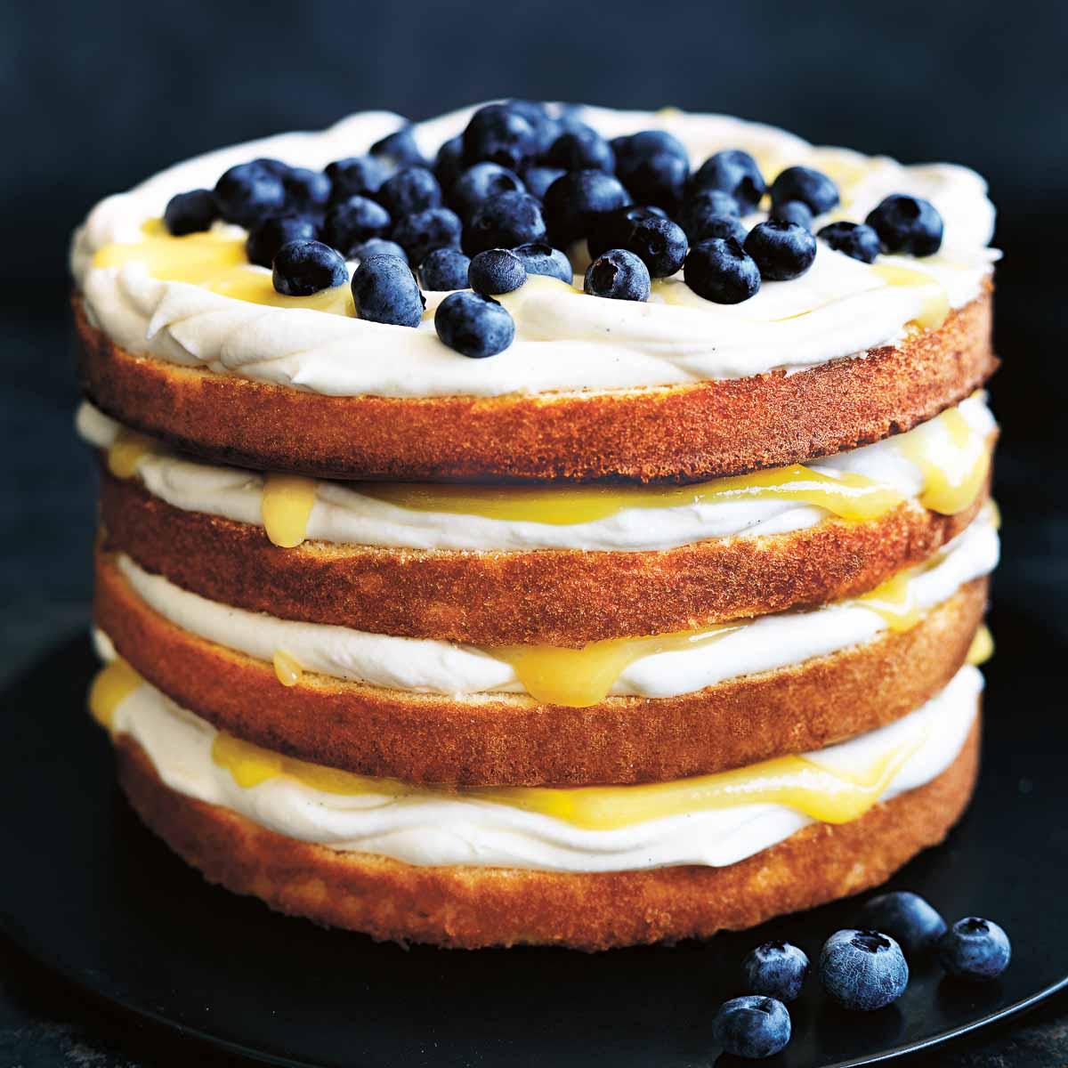 Rezept Fur Zitronen Blaubeer Torte Von Donna Hay Creme Guides