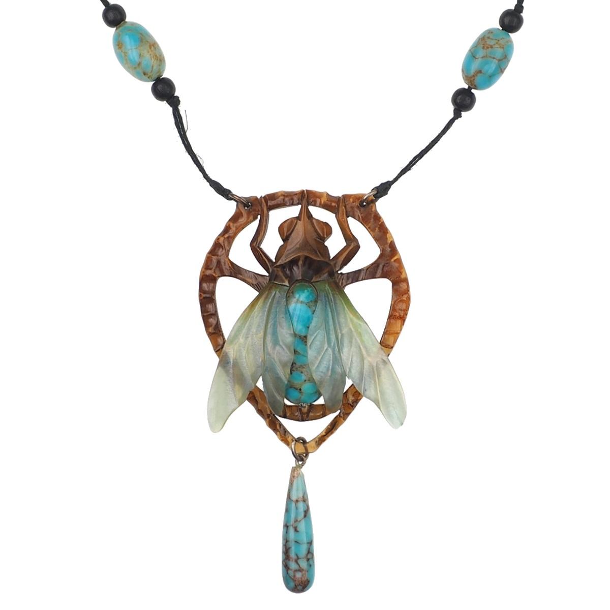 Horncollier Elizabeth Bonte Antique Jewellery Berlin