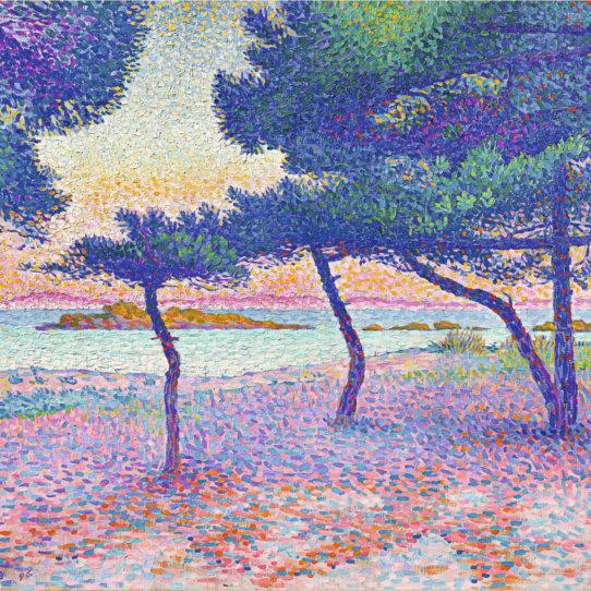 Henri-Edmond Cross Der Strand von Saint-Clair 1896 Privatsammlung