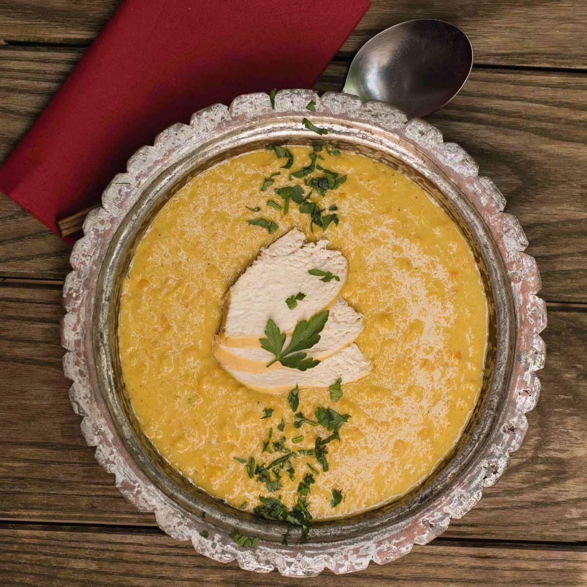 Hühner-Curry-Suppe für Miss Sophie
