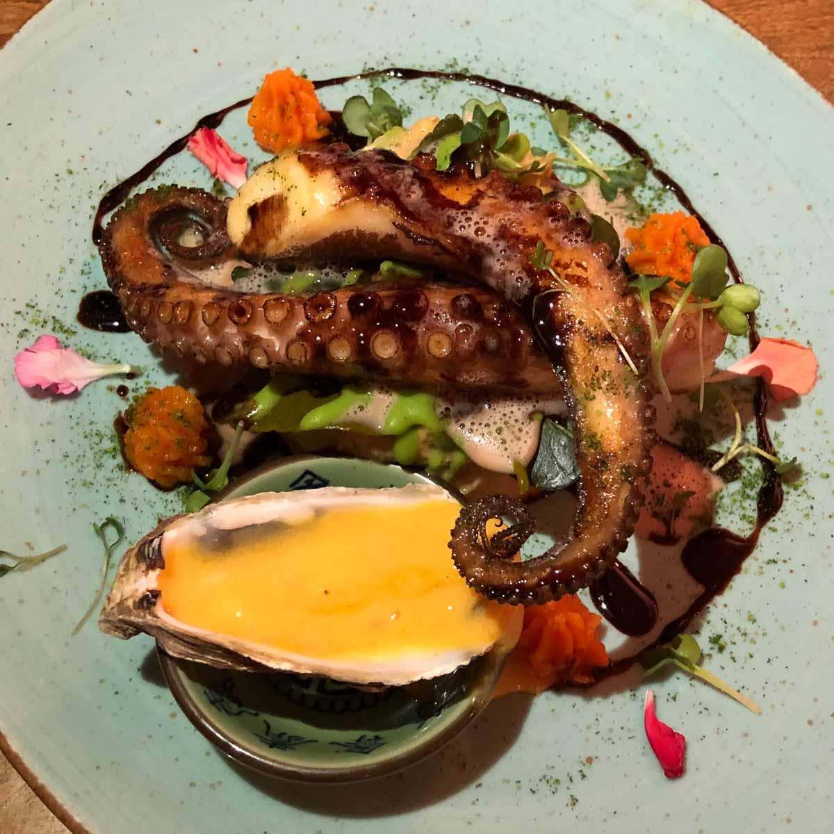 Octopus im Restaurant La Mezcla