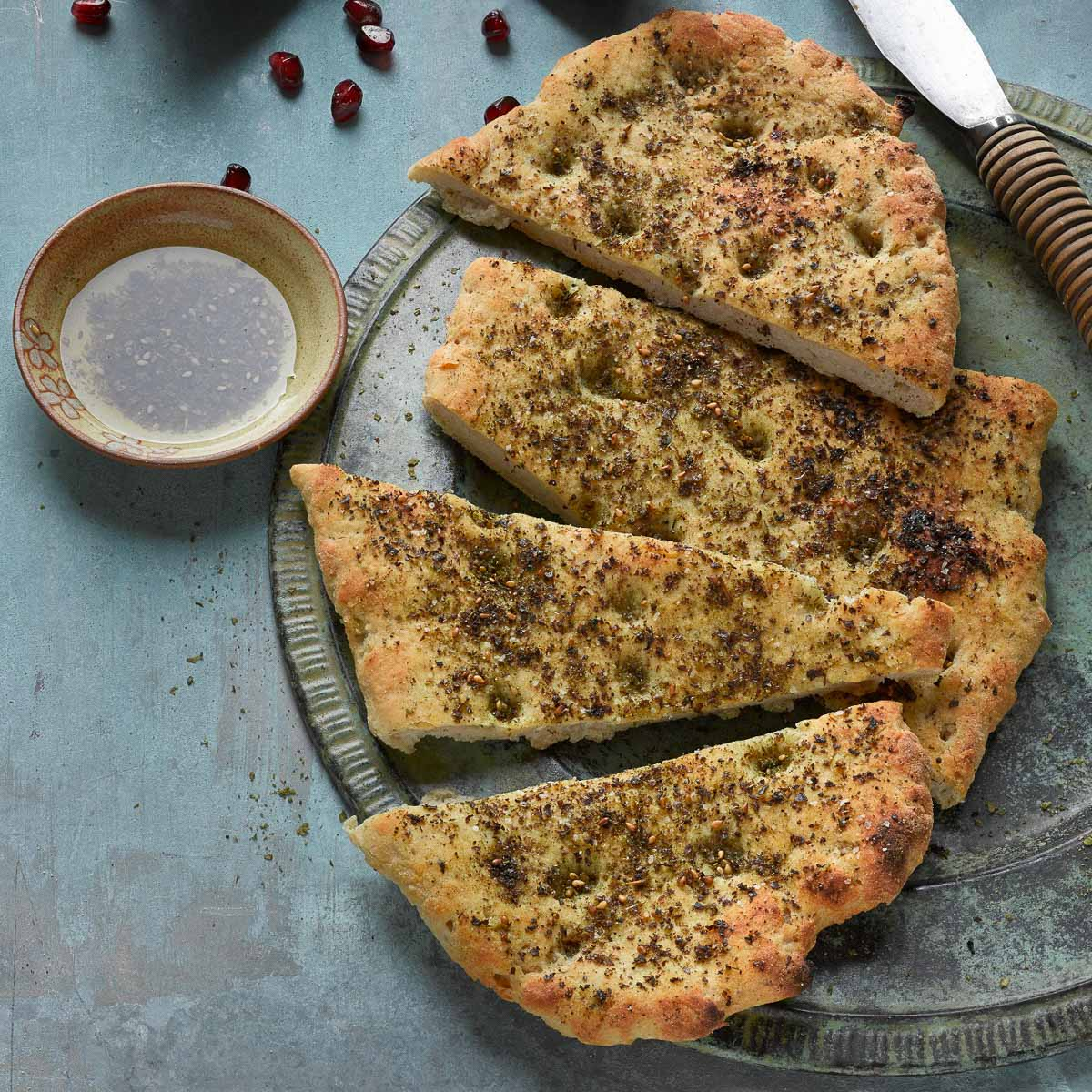 Glutenfreies Fladenbrot mit Za'atar ©Stephen Scott