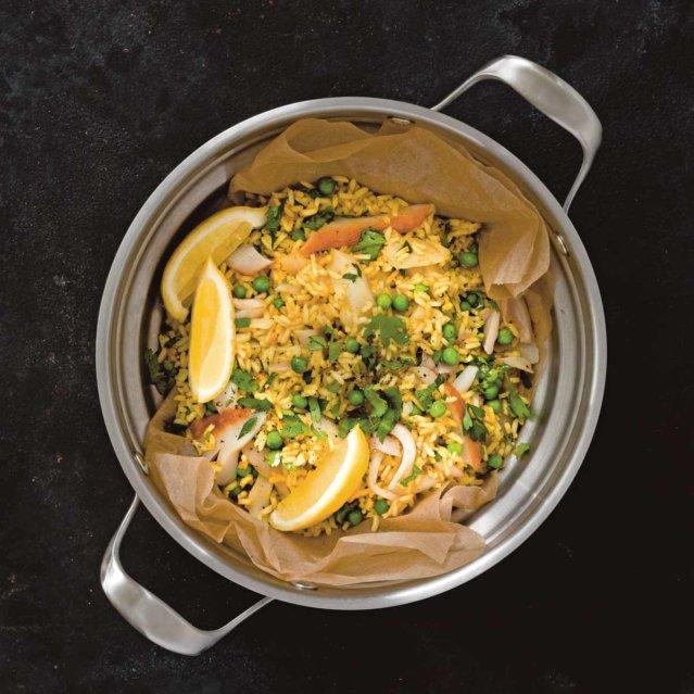 Rezept für Reissalat mit geräuchertem Fisch