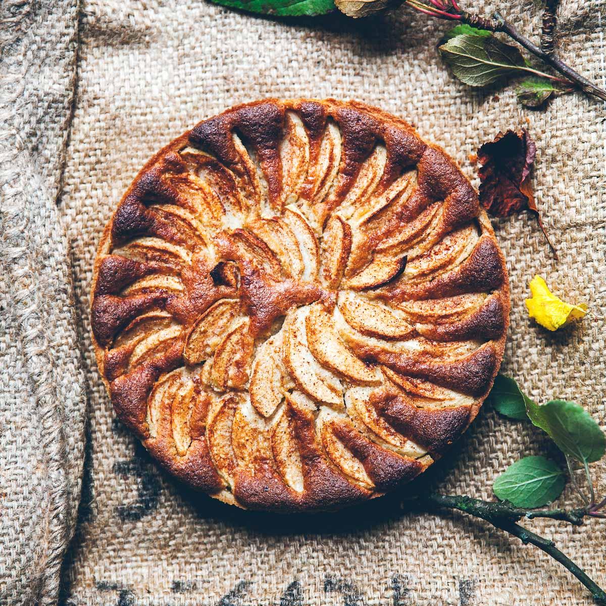 Rezept für Apfel-Mandel-Kuchen mit Zimt