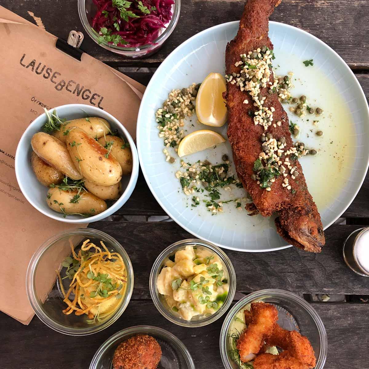 Restaurant Lausebengel in Berlin Salat