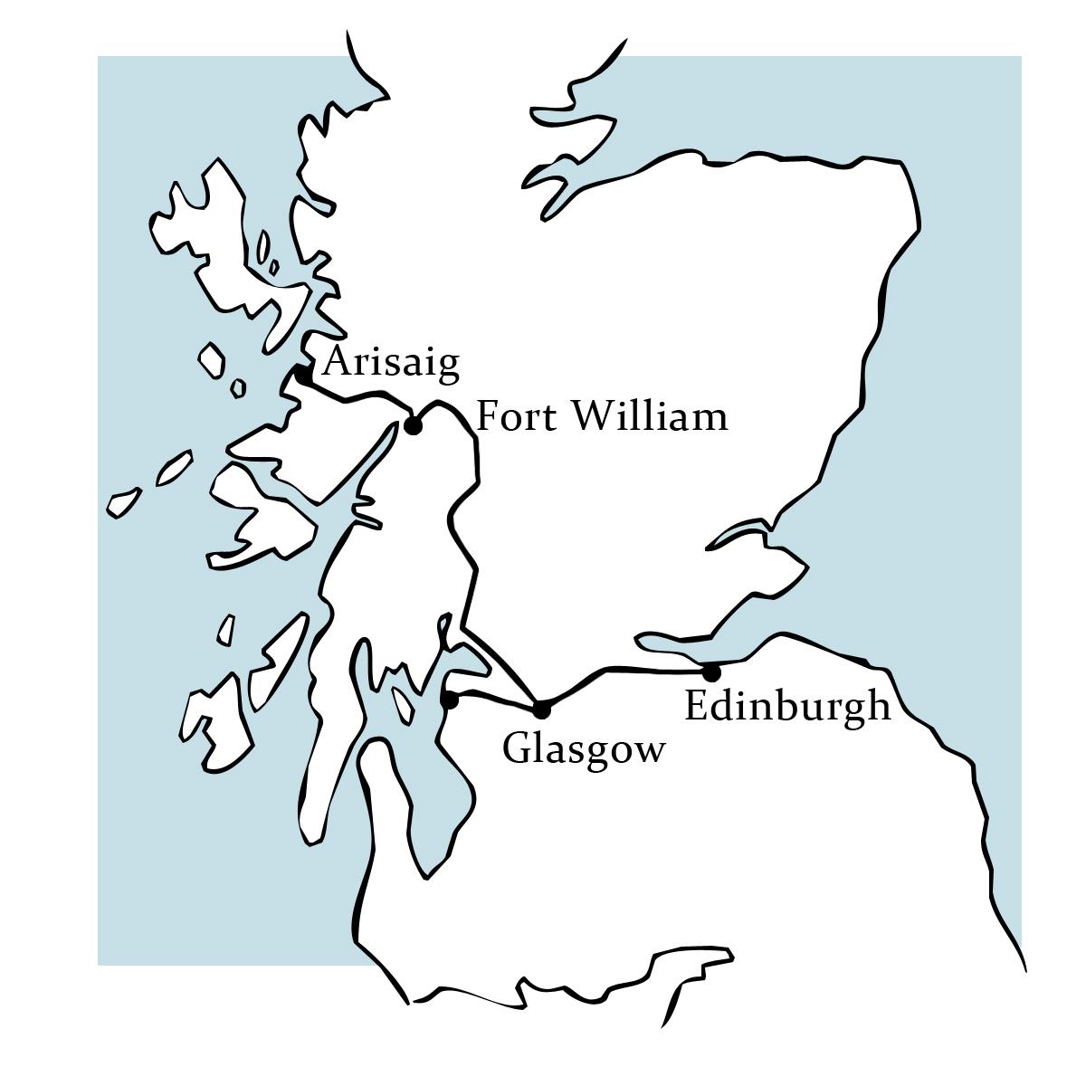 Reiseroute Belmond Royal Scotsman © Ella Fogg