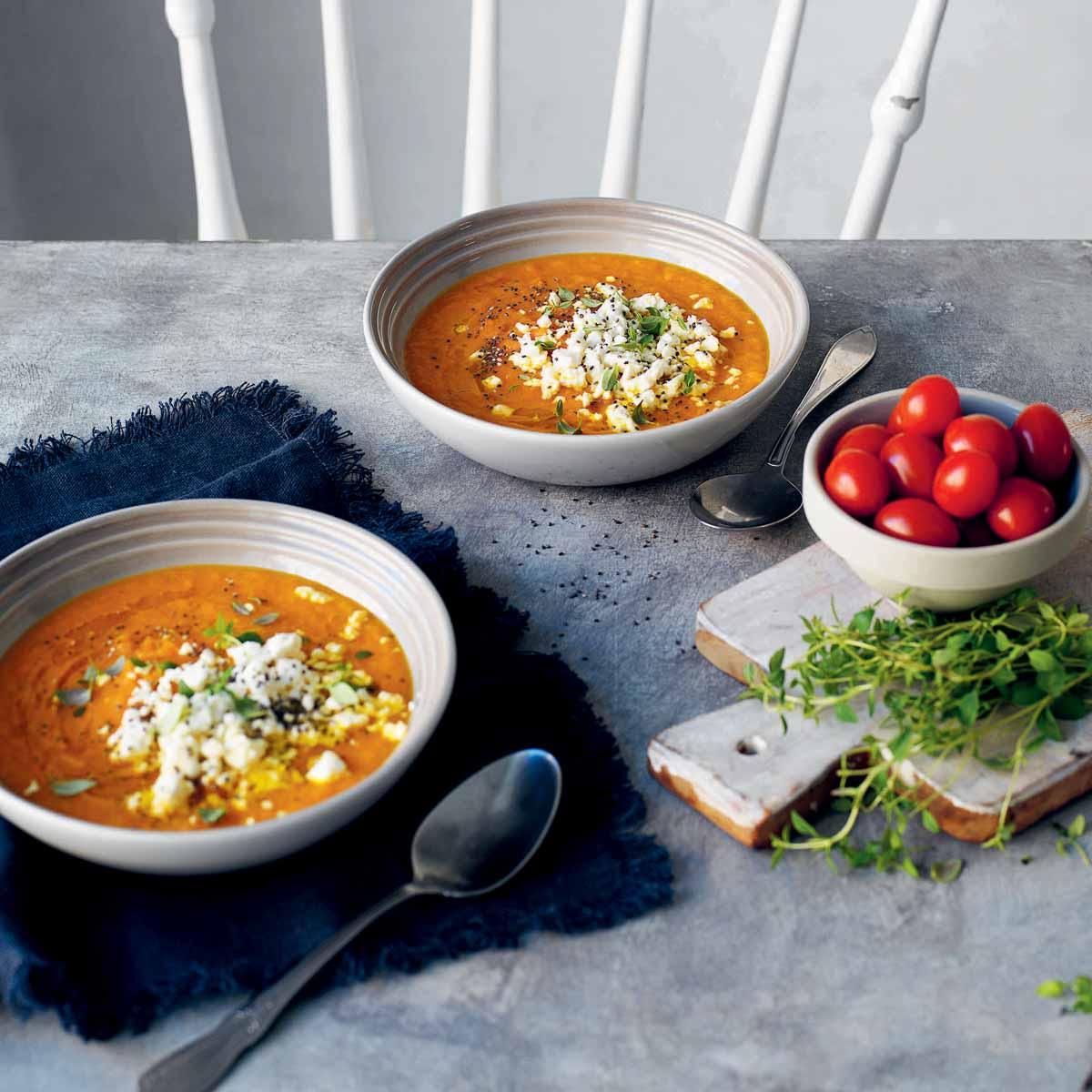 Möhren-Safran-Suppe