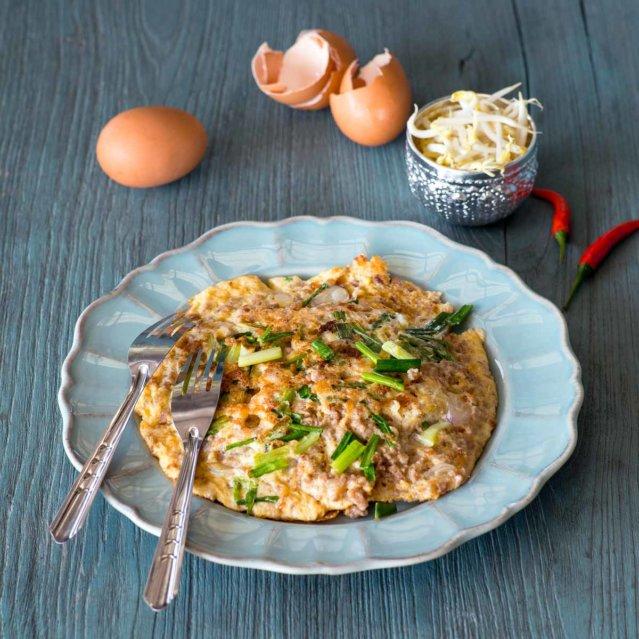 Omelett mit Hackfleisch ©Joss Andres, Agentur für angewandten Salat