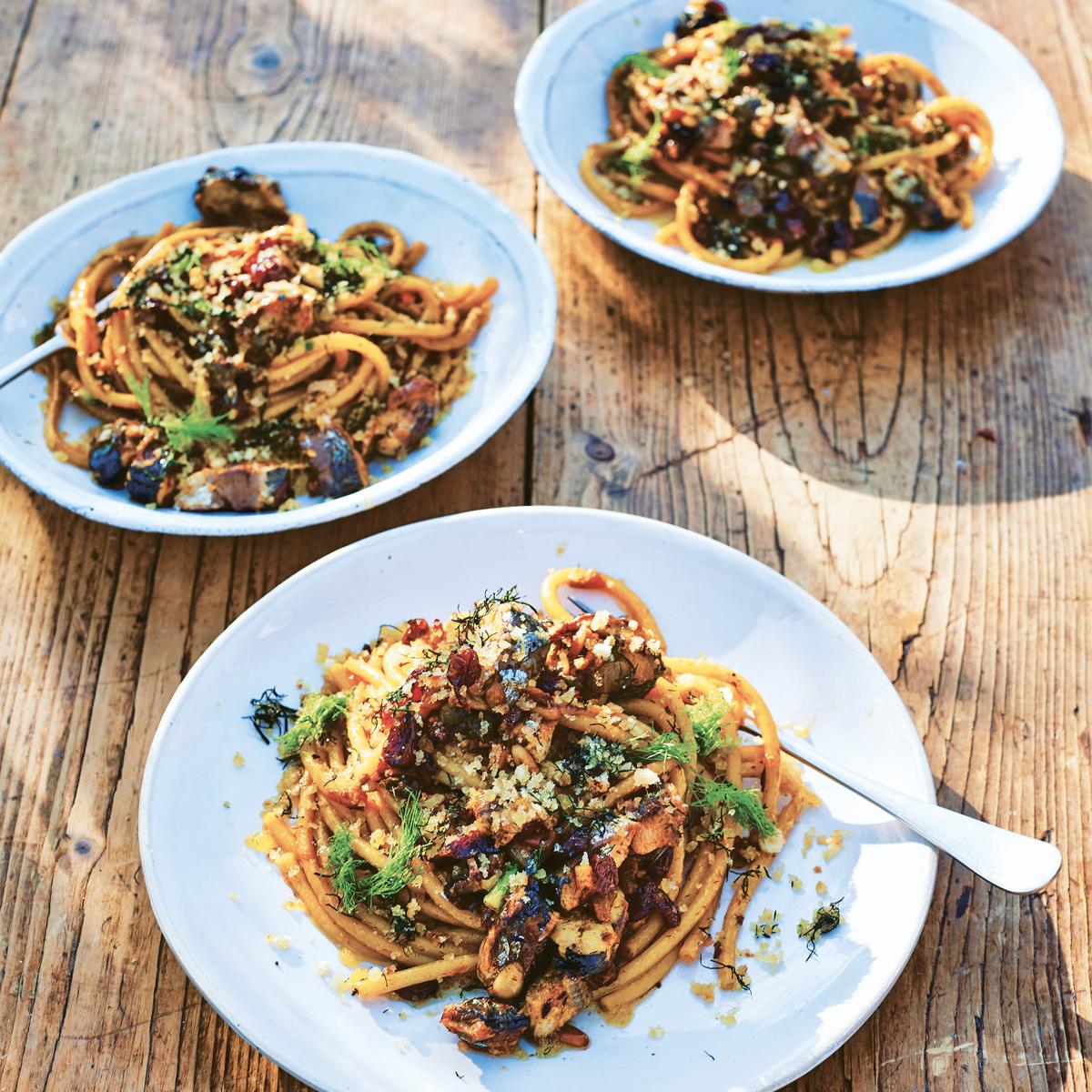 Rezept für Bucatini mit Sardinen