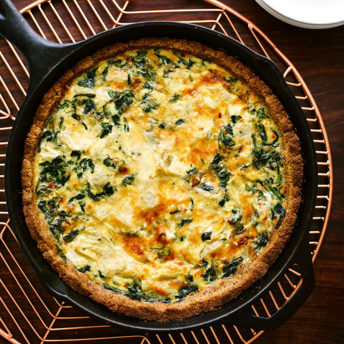 Rezept für Spinat Quiche ©Kathryne Taylor