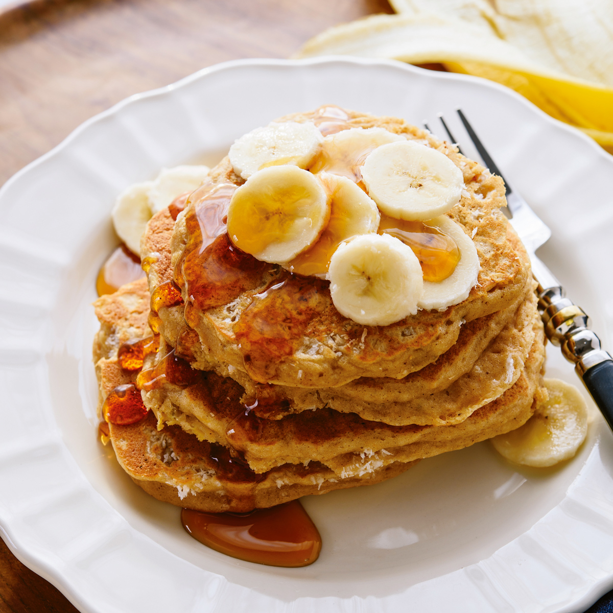 Rezept für Banana-Kokos-Pancakes