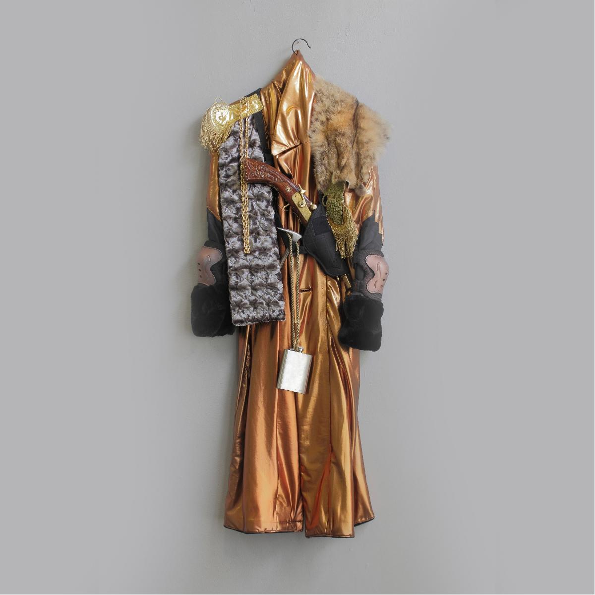PREPPER COAT, 2016, wall sculpture &  performance costume  @SOME DEMONSTRATIONS by Charlie Stein  @MANIFESTA, 2016, Zurich