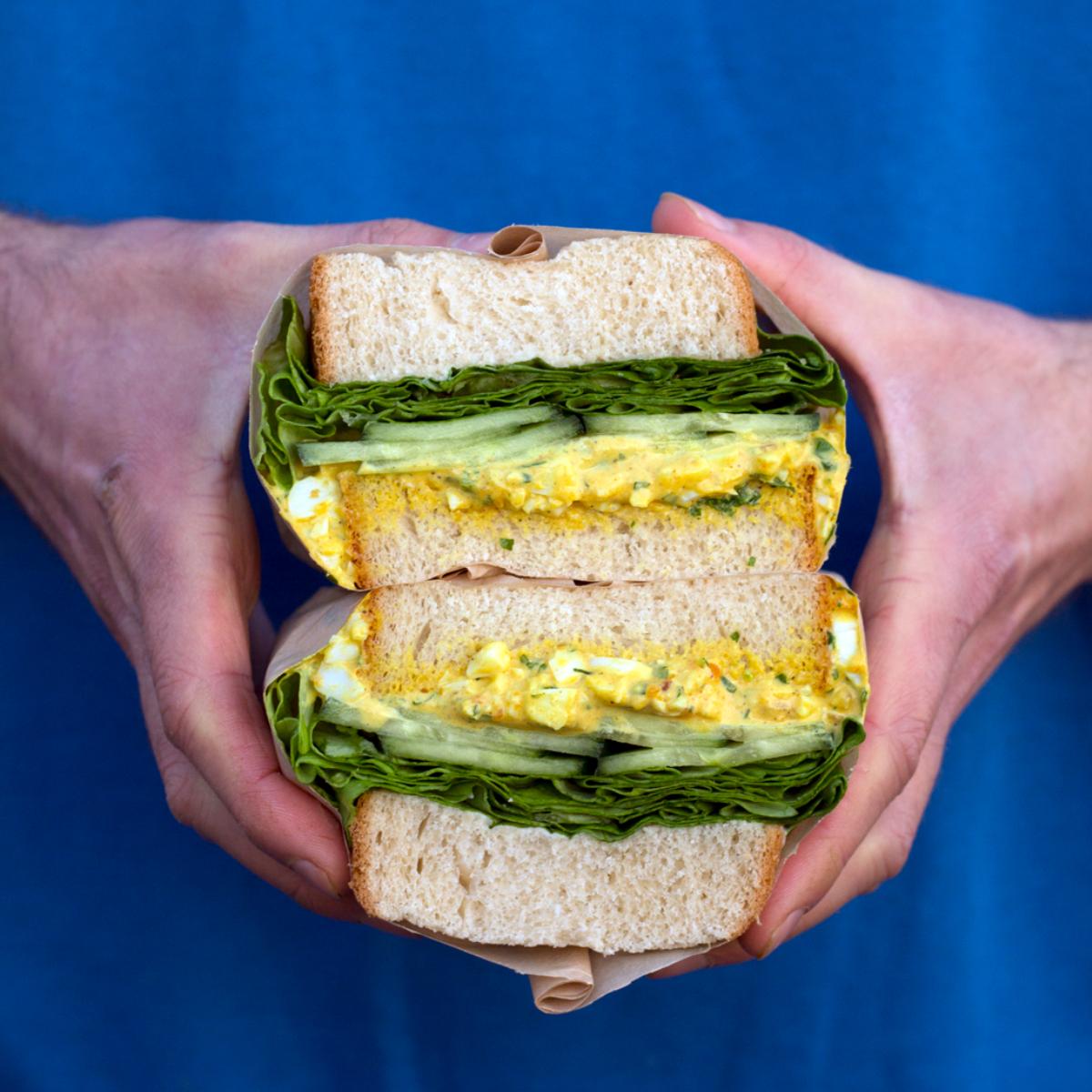 Tinman Berlin Curry Egg Sandwich