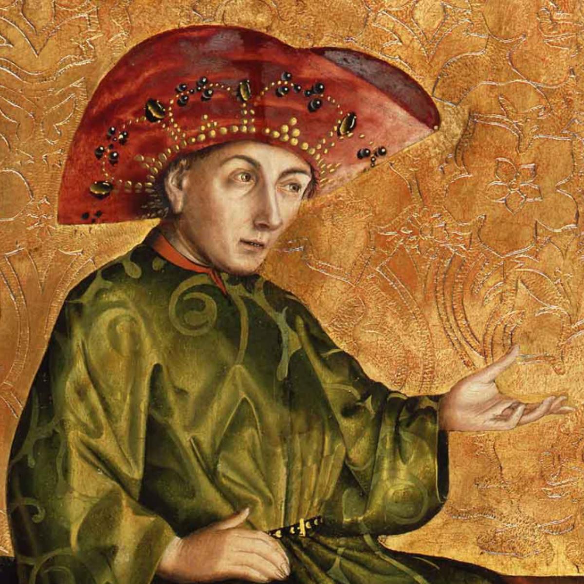 Ausschnitt_ Konrad Witz, Die Königin von Saba vor Salomo, Staatliche Museen zu Berlin, Gemäldegalerie Jörg P. Anders