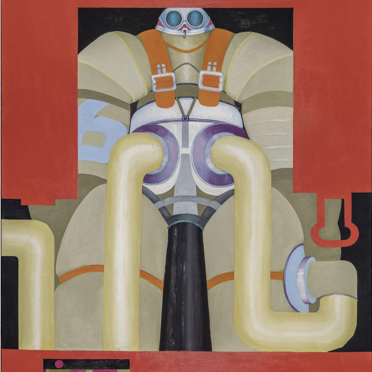 Bettina von Arnim, Optiman, 1969l auf Leinwand138 x 112 x 3 cm Staatliche Museen zu Berlin, Nationalgalerie  Mathias Vlzke  VG Bild-Kunst, Bonn 2021