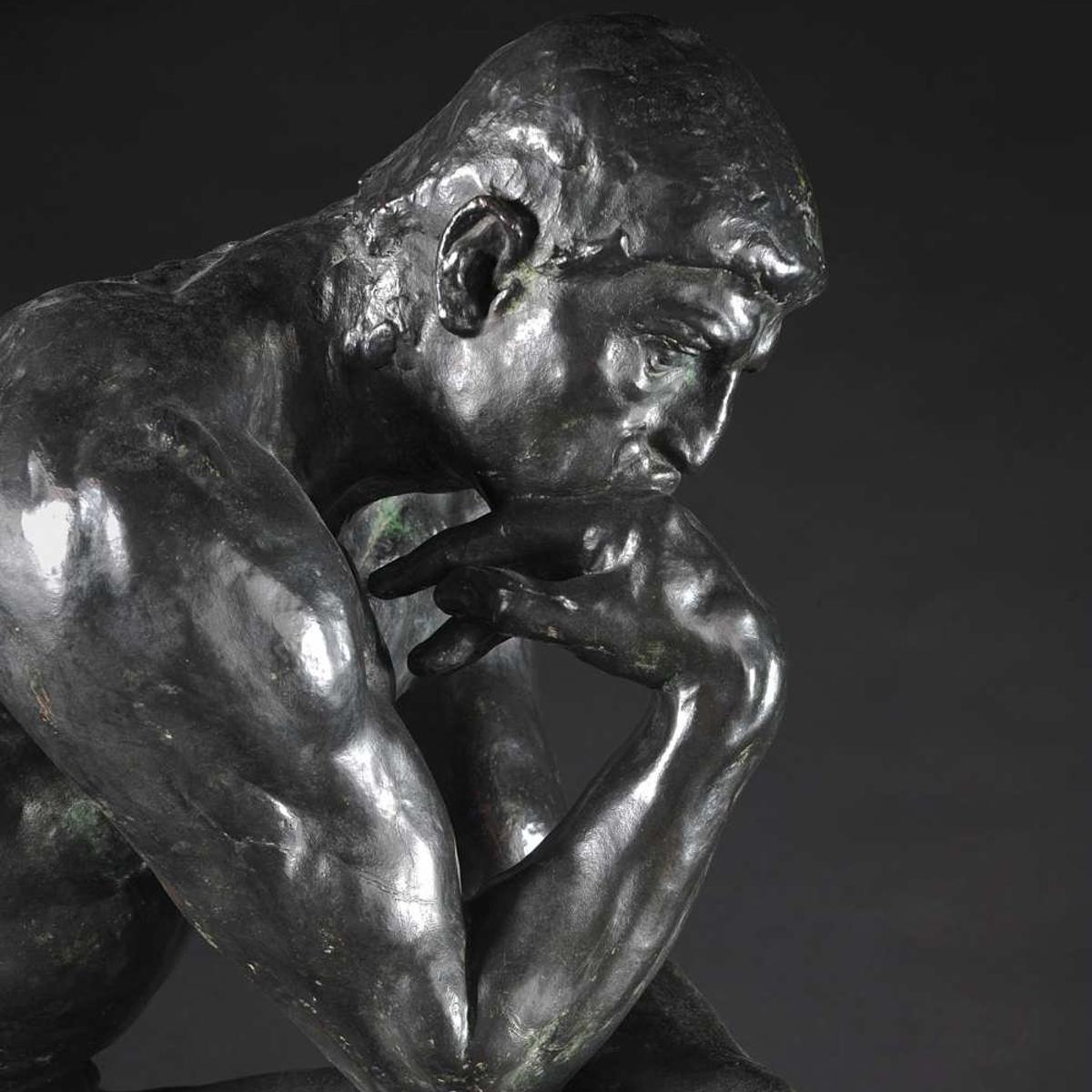 Auguste Rodin, The Thinker, 1881-83, Detail, Nationalgalerie, Staatlichen Museen zu Berlin Andreas Kilger