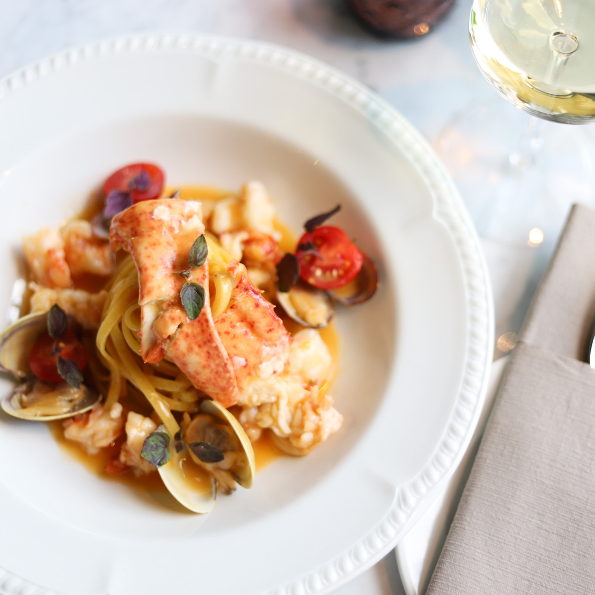 Lobster Pasta The Rose