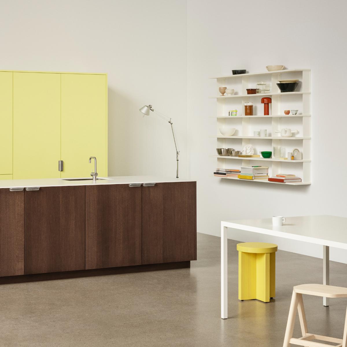 Reform UNIT by Aspekt Office Dark Oak + Yellow