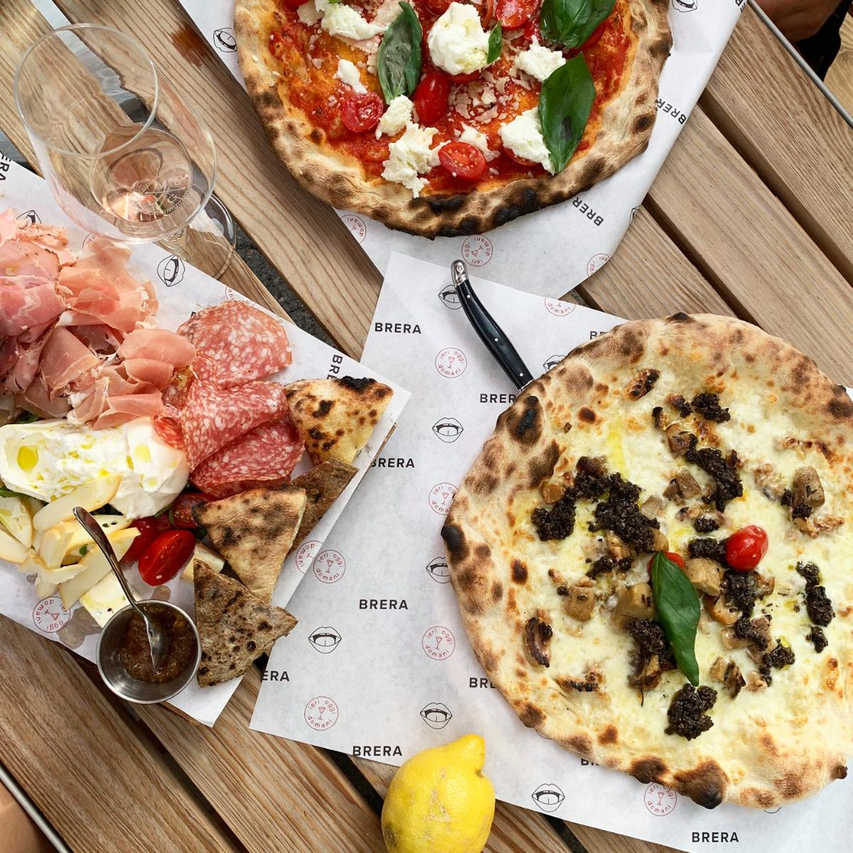 Restaurant Brera Zuerich Pizza und Tagliere