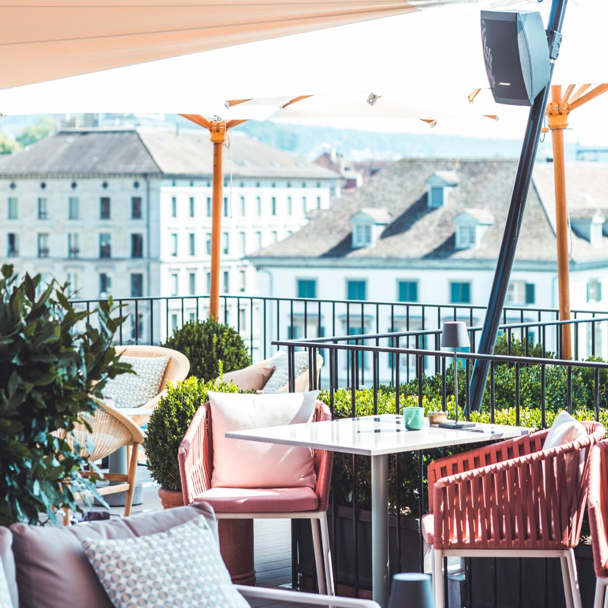 The Nest Rooftop-Bar Hotel Storchen Zuerich (1)